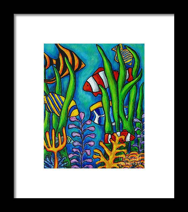 Tropical Framed Print featuring the painting Tropical Gems by Lisa Lorenz