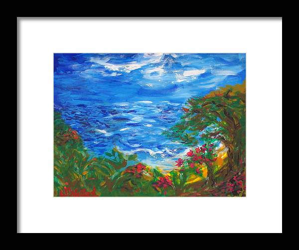 Tropical Framed Print featuring the painting Tropical Horizons by Jenni Walford