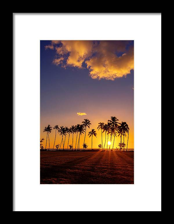 Sunrise Framed Print featuring the photograph Tropical Island Sunrise by Pierre Leclerc Photography