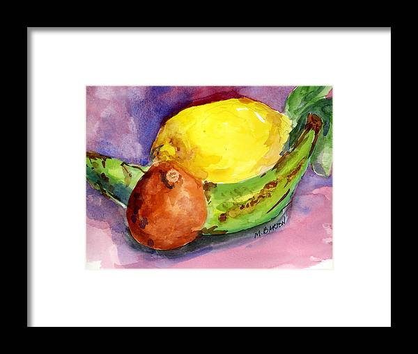 Fruit Framed Print featuring the painting Tropical by Marilyn Barton