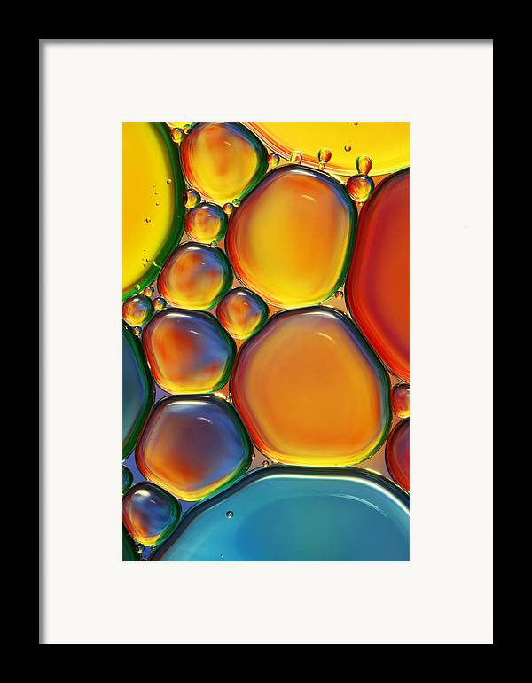 Oil Framed Print featuring the photograph Tropical Oil And Water II by Sharon Johnstone