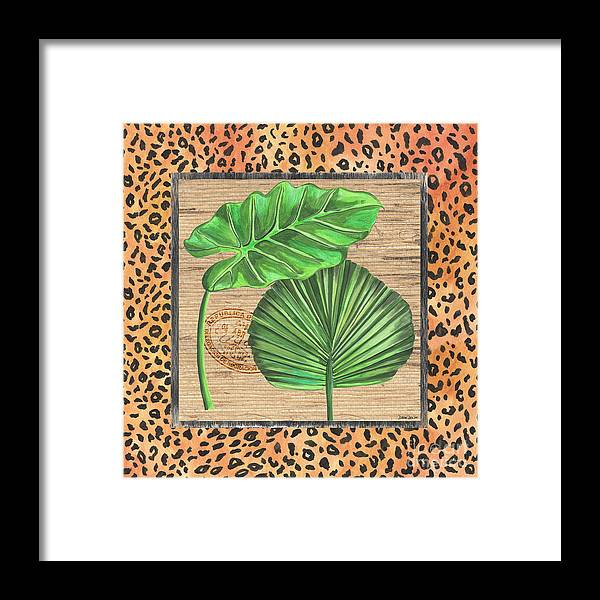 Palm Framed Print featuring the painting Tropical Palms 1 by Debbie DeWitt
