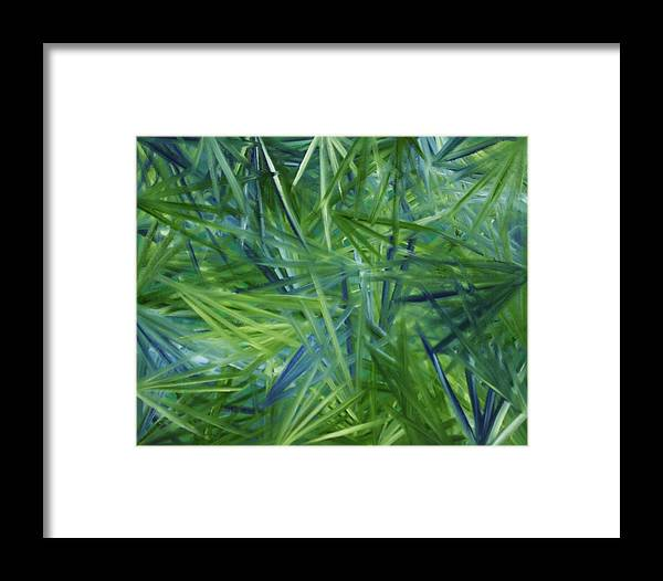 Tropical Framed Print featuring the painting Tropical Point Of View by Karen Rester