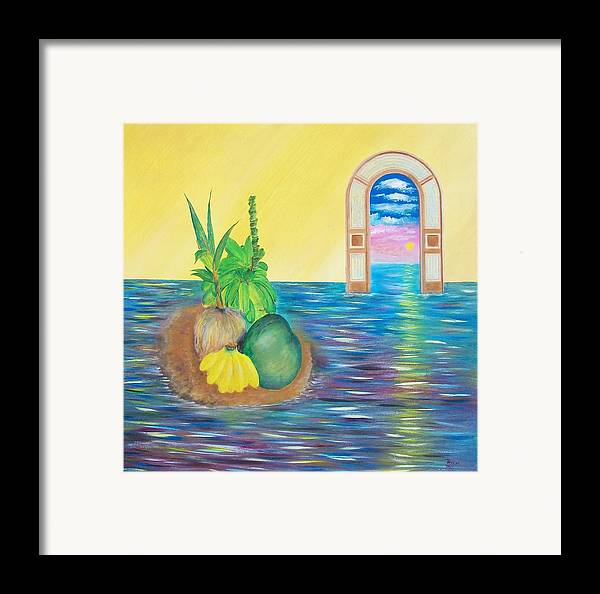 Still Life Framed Print featuring the painting Tropical Still Life by Tony Rodriguez