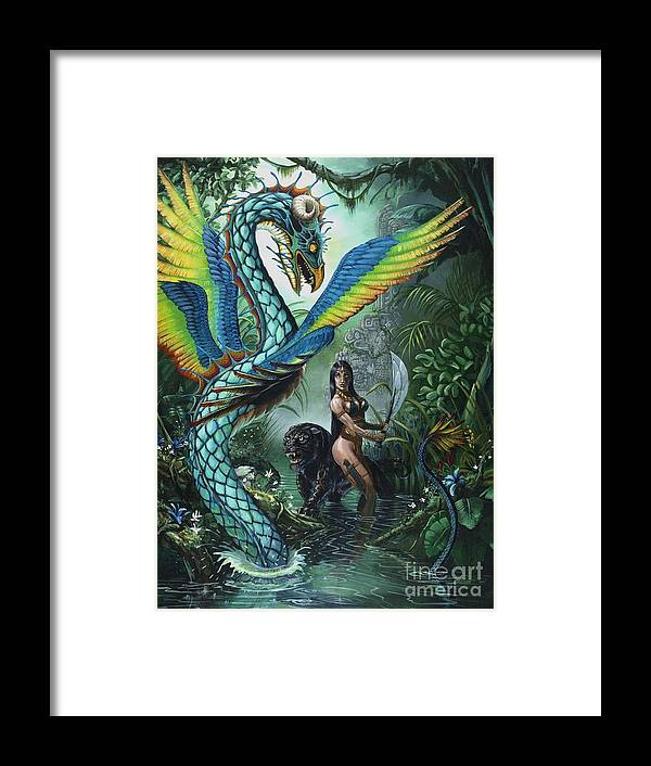 Dragon Framed Print featuring the painting Tropical Temptress by Stanley Morrison