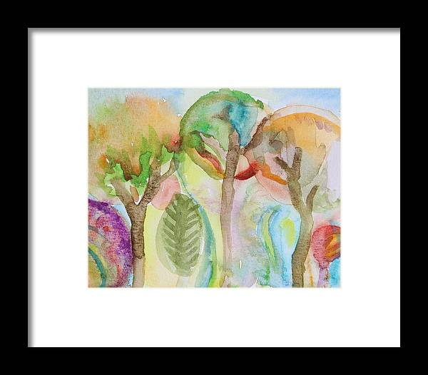 Tree Framed Print featuring the photograph Tropical Trees by Modern Art