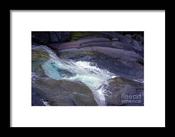 Flowing Framed Print featuring the photograph Tropical Water Bird Josephine Falls by Kerryn Madsen- Pietsch