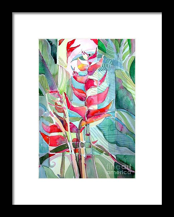 Landscape Framed Print featuring the painting Tropicana Red by Mindy Newman