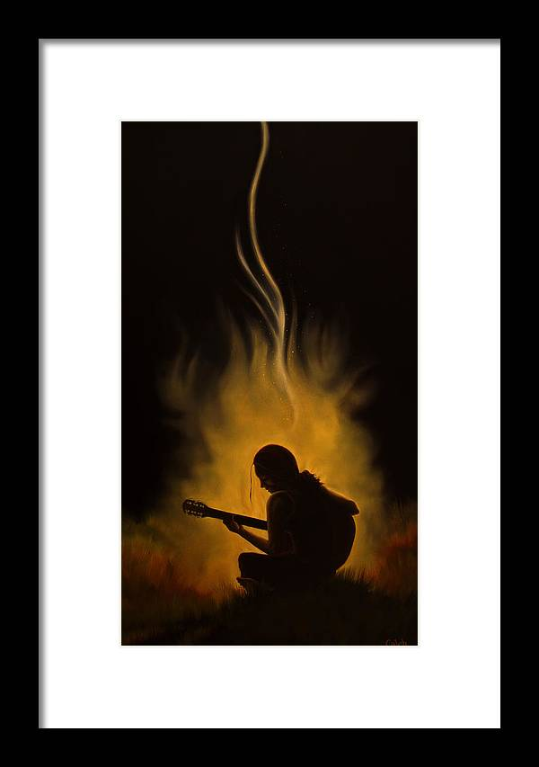 Figurative Framed Print featuring the painting Troubadour by Caleb Hamm