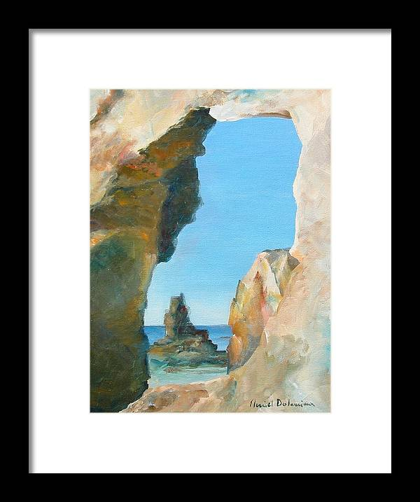 Paysage Framed Print featuring the painting Trouee 1 by Muriel Dolemieux