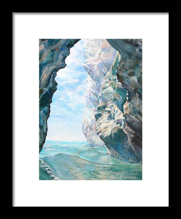 Landscape Paintings Framed Print featuring the painting Trouee 2 by Muriel Dolemieux