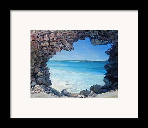 Landscape Framed Print featuring the painting Trouee 4 by Muriel Dolemieux