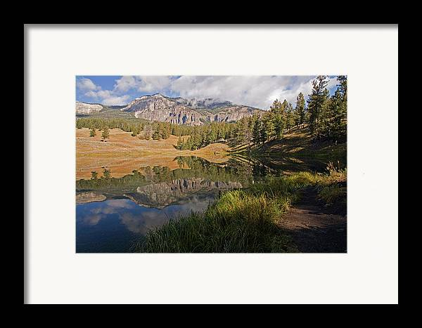 Horizontal Framed Print featuring the photograph Trout Lake, Yellowstone National Park by DBushue Photography