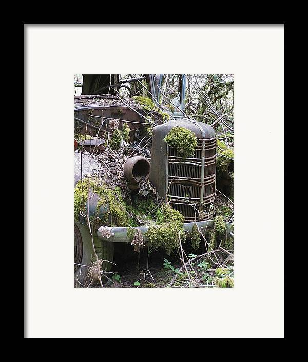 Truck Framed Print featuring the photograph Truck Grill by Gene Ritchhart
