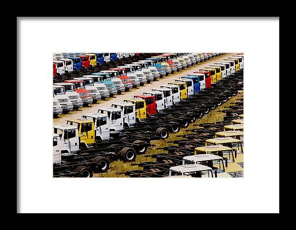 Truck Framed Print featuring the photograph Trucks by Amarildo Correa