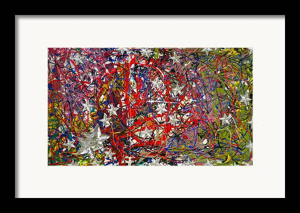 Red White And Blue Framed Print featuring the painting True American Colors by Dylan Chambers