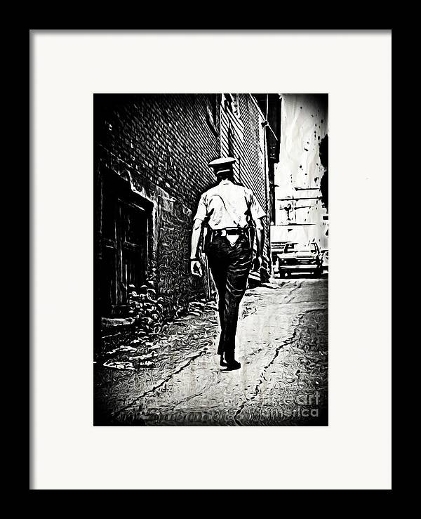 Police Cards Framed Print featuring the photograph True Grit by John Malone