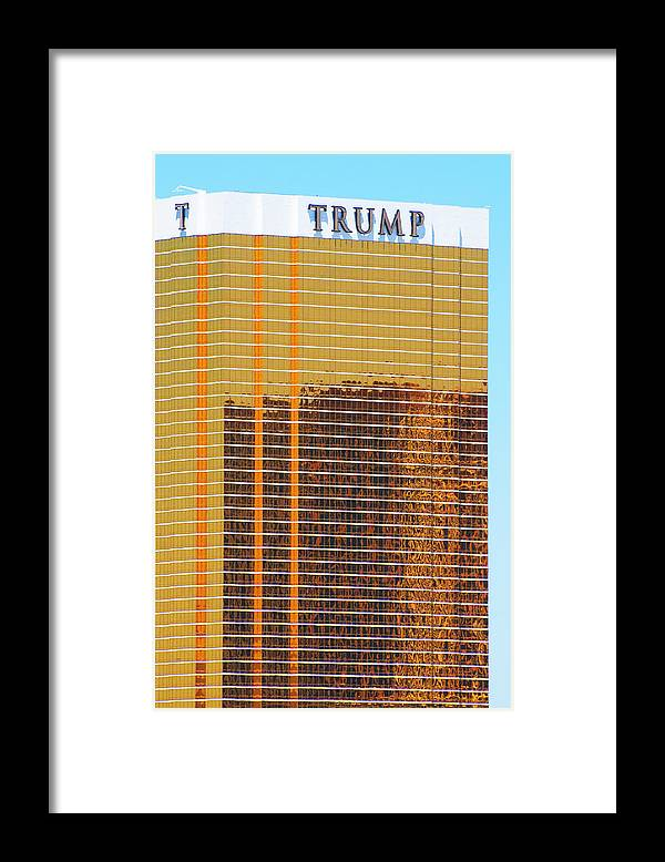 Architecture Framed Print featuring the photograph Trump by Richard Henne