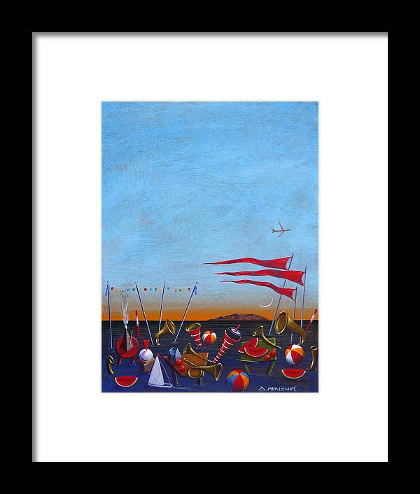 Piano Framed Print featuring the painting Trumpets Of The Mediterranean by Dimitris Milionis