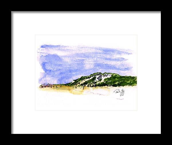 Truro Beach Cape Cod Framed Print by Paul Gaj