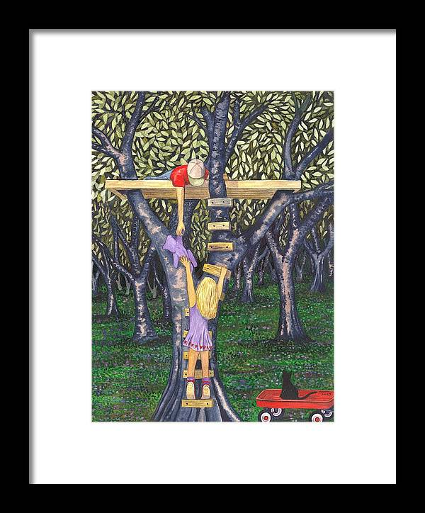 Children Framed Print featuring the painting Trust by Catherine G McElroy