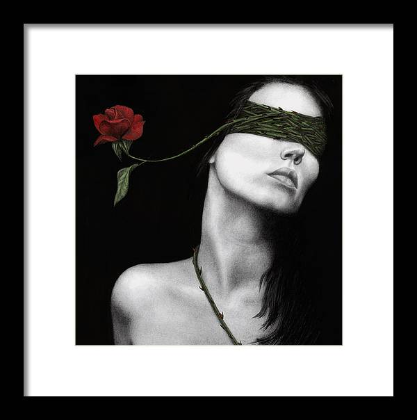 Woman Framed Print featuring the painting Truth Of Beauty by Pat Erickson