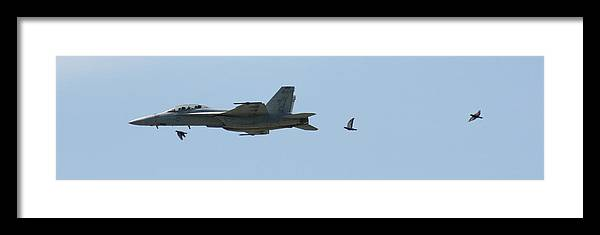Airplane Framed Print featuring the photograph Try To Keep Up Would Ya by David Dunham