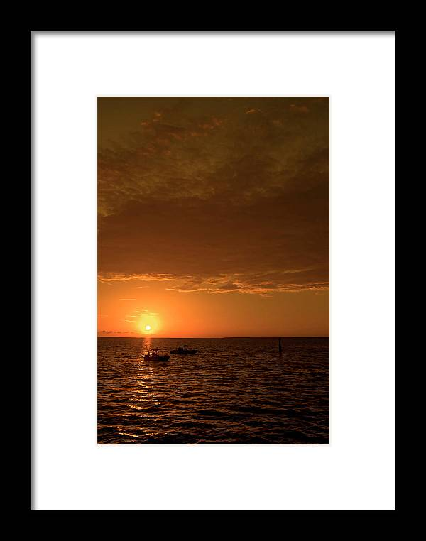 Color Photograph Framed Print featuring the photograph Trying To Catch The Sun by Wayne Denmark
