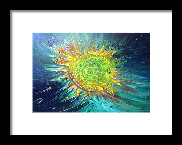Sun Framed Print featuring the painting Tsunami Sun by Bryan Zingmark