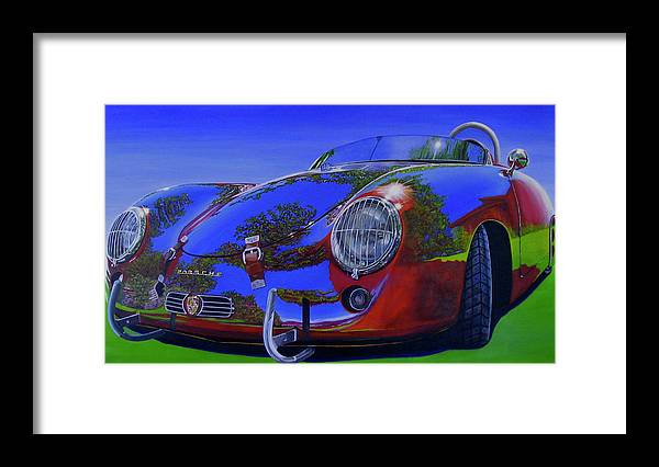Car Framed Print featuring the painting Tub Effects by Lynn Masters