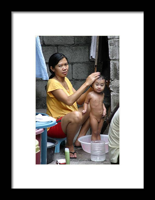 Jez C Self Framed Print featuring the photograph Tubig Malamig Nanay by Jez C Self