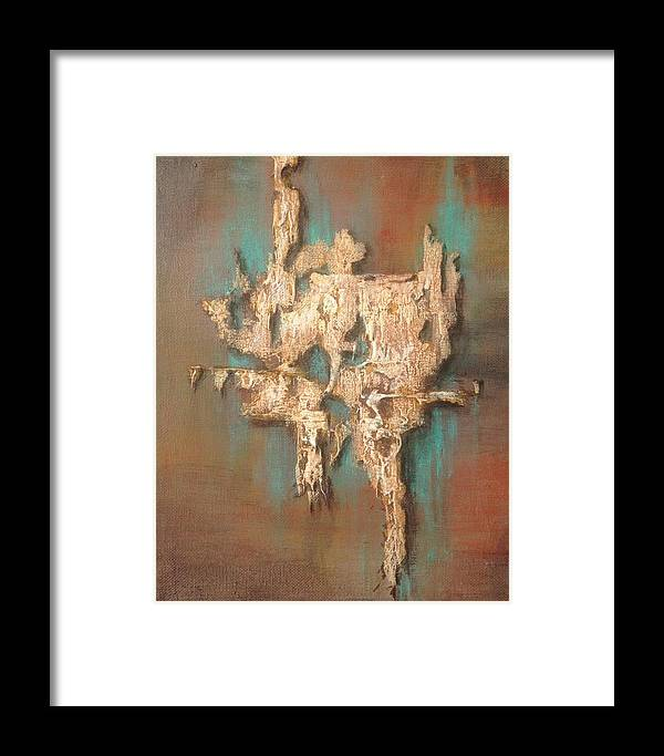 Abstract Framed Print featuring the painting Tucson Nothing by T Fry-Green