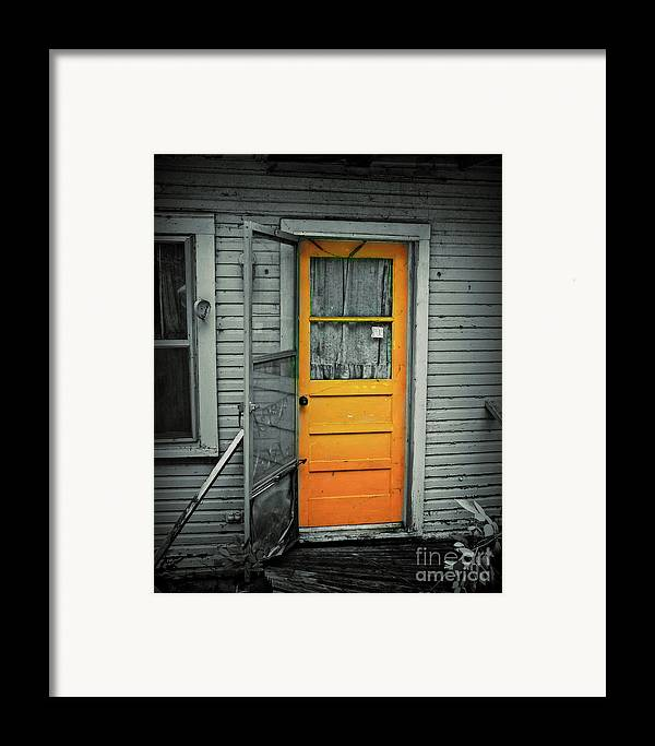 Door Framed Print featuring the photograph Tuff Times by Perry Webster