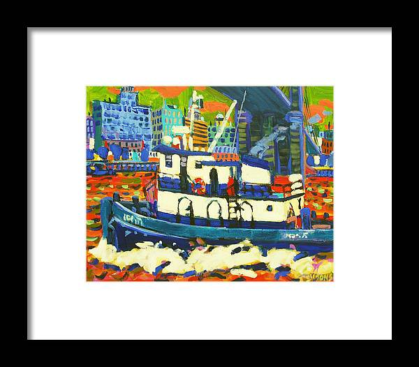 Paintings Framed Print featuring the painting TUG by Brian Simons
