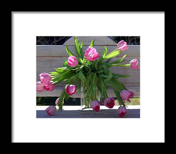 Flowers Framed Print featuring the photograph Tulip Bouquet by Heather S Huston