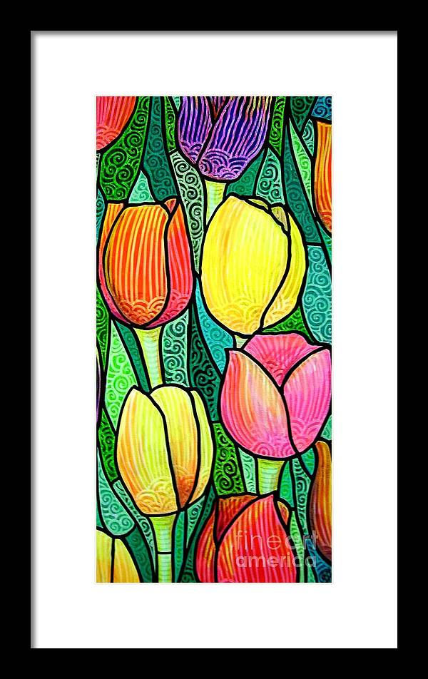 Tulips Framed Print featuring the painting Tulip Expo by Jim Harris