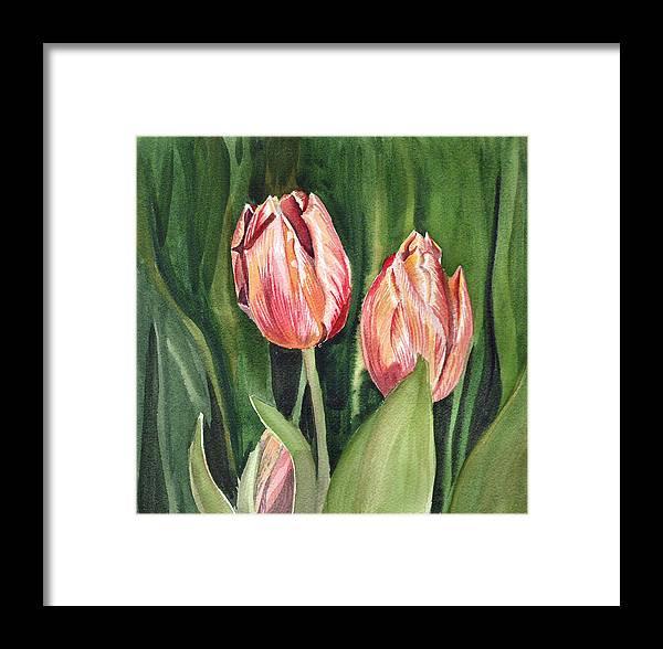 Tulip Framed Print featuring the painting Tulips by Irina Sztukowski