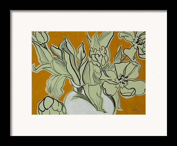 Tulip Framed Print featuring the painting Tulips by Vitali Komarov