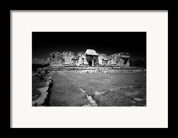 Landscapes Framed Print featuring the photograph Tulum Market Square by Tom Fant