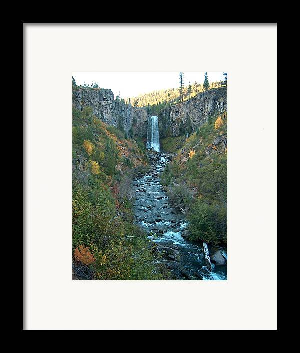 Waterfall Framed Print featuring the photograph Tumalo Falls by Janet Hall