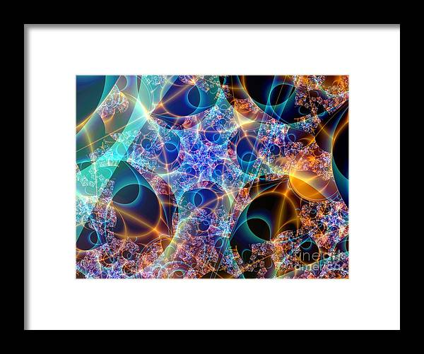Fractal Art Framed Print featuring the digital art Tunica Intima by Ron Bissett