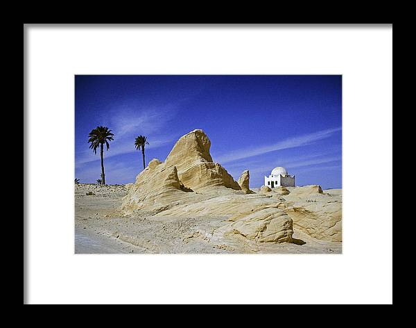 Africa Framed Print featuring the photograph Tunisian Desertscape by Michele Burgess