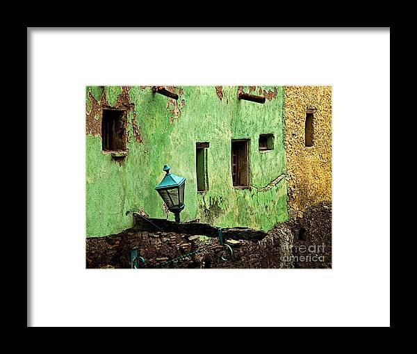 Darian Day Framed Print featuring the photograph Tunnel Lamp by Mexicolors Art Photography