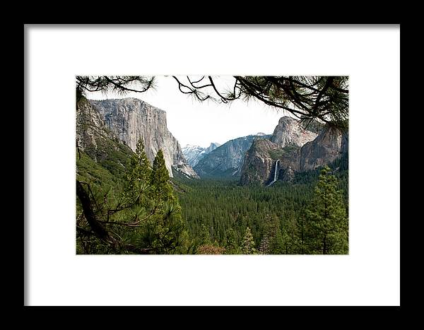 Yosemite Framed Print featuring the photograph Tunnel View Framed by Lorraine Devon Wilke