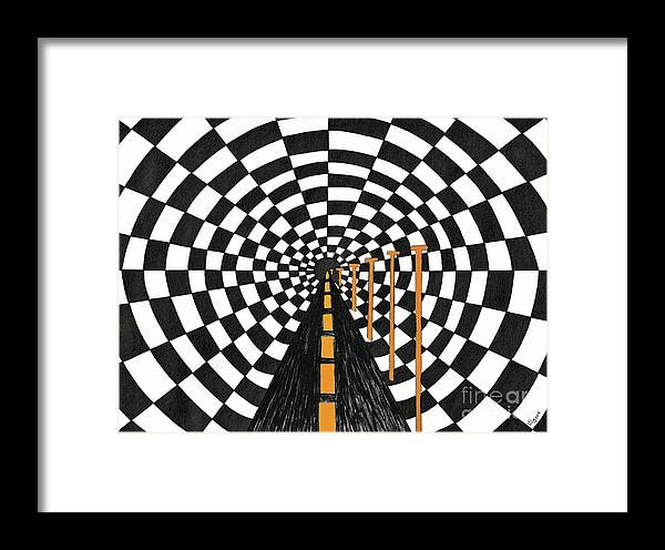 Framed Print featuring the painting Tunnel Vision by ArtSick Productions