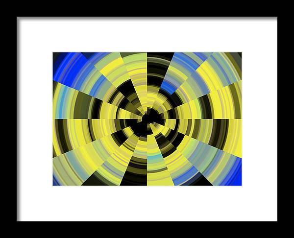 Tunnel Vision Framed Print featuring the digital art Tunnel Vision by Debbie McIntyre