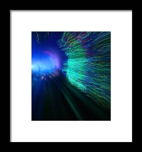 Abstract Framed Print featuring the photograph Tunnel Vision IIi by Erika Lesnjak-Wenzel