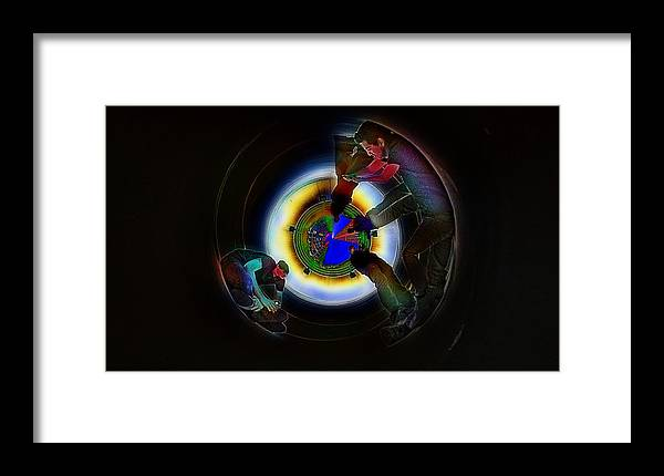Tunnel Vision Up The Drain Framed Print featuring the photograph Tunnel Vision Up The Drain by Don Columbus