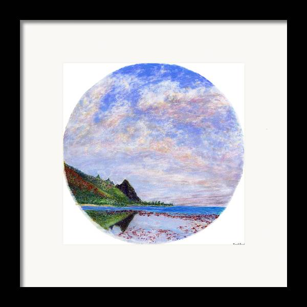 Rainbow Colors Pastel Framed Print featuring the painting Tunnels Vision by Kenneth Grzesik