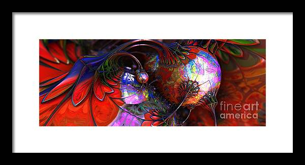 Fractal Framed Print featuring the digital art Tuns Of Paint by Jon Munson II